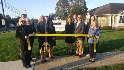 On Nov. 3, 2017, the Harrison Township Economic Development Council celebrated the opening of Dr. Claudine De Dan's MDVIP-affiliated practice in Mullica Hill, N.J. Pictured L to R: Tina Wadkins,  Harrison Twp Committeeman Don Heim, Jacque Mills, Dr. Claudine De Dan, Harrison Twp Committeeman Jeffrey Jacques, Gloucester County Freeholder Heather Simmons, Harrison Twp Recreation Commission's Julie DeLaurentis, Mayor Lou Manzo, Steve Mesaros (husband of De Dan), Maria Sallustio and Kimberly Clark.