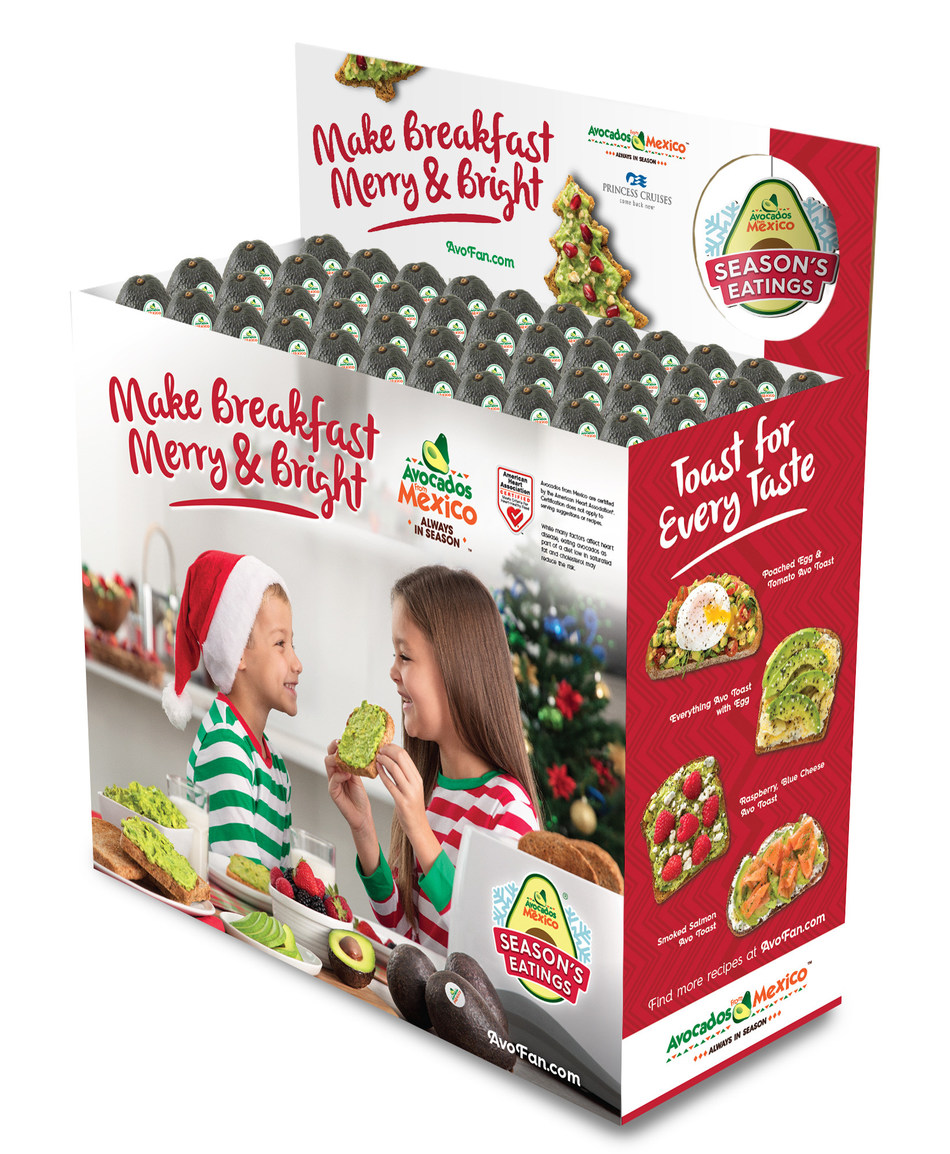Shoppers can find Avocados From Mexico's Season's Eatings promotion through holiday in-store signage and displays.