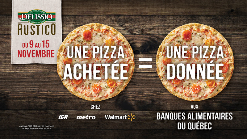 Delissio + Banques alimentaires du Québec (Groupe CNW/Nestle Canada Inc.)