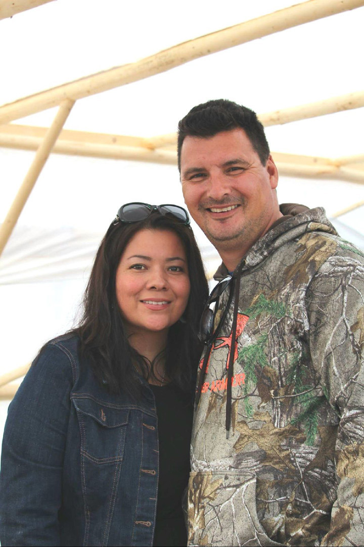 Kim Picard and Jean-Luc Kanape, owners of Mashkuss Aventures, saw their dream washed out by the flow. (CNW Group/Conseil des Innus de Pessamit)