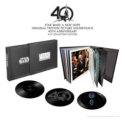 Star Wars: A New Hope Original Motion Picture Soundtrack 40th Anniversary 3-LP Collector's Edition product shot.