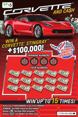 Virginia Lottery's Corvette® and Ca$h Instant Ticket (CNW Group/Pollard Banknote Limited)