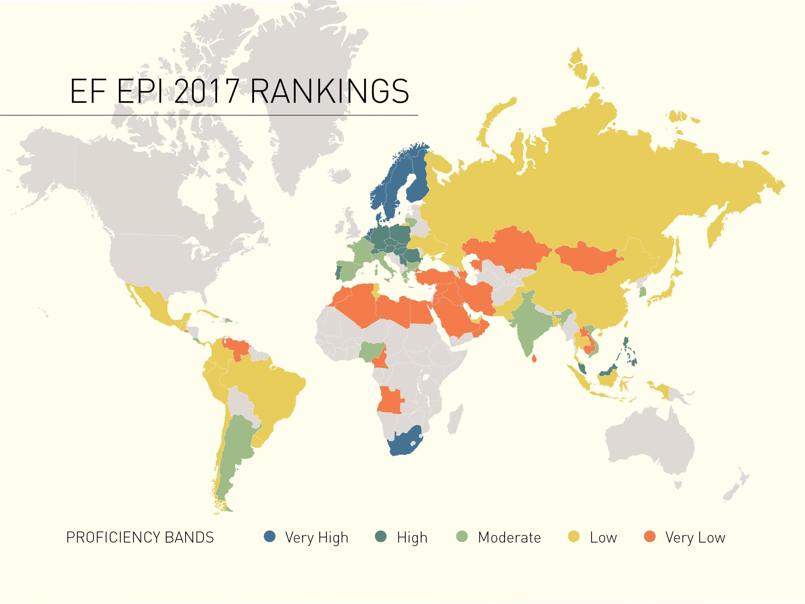 World Map (PRNewsfoto/EF Education First)