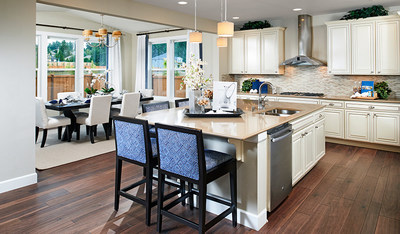 The open, airy Hemingway kitchen is ideal for entertaining.