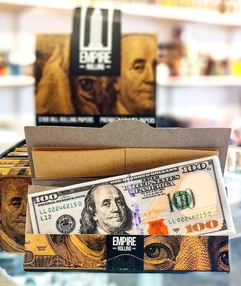 """Empire Rolling Papers """"Benny's"""" with paper tips. Photo Credit: @usmokeshop"""