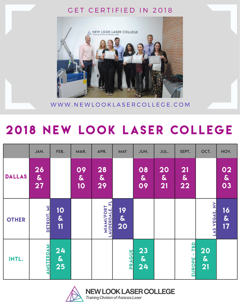New Look Laser College is bringing advanced laser tattoo removal training to more locations in 2018.