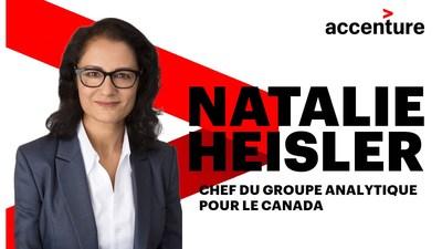 Mme Heisler concentrera ses efforts à s'assurer qu'Accenture apporte à ses clients la meilleure expérience et les meilleures solutions en matière d'analytique. (Groupe CNW/Accenture)