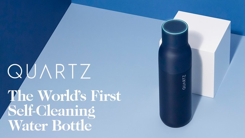 QUARTZ The World's First Self-Cleaning Water Bottle