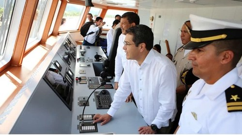 At a dedication ceremony for the new Honduran ship Gracias a Dios, President Juan Orlando Hernández announced that crime in Honduras plunged to its lowest level in a decade this past October.