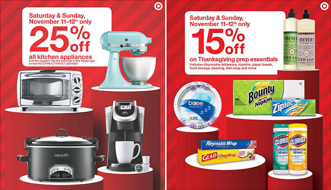Target's first Weekend Deal of the holiday season