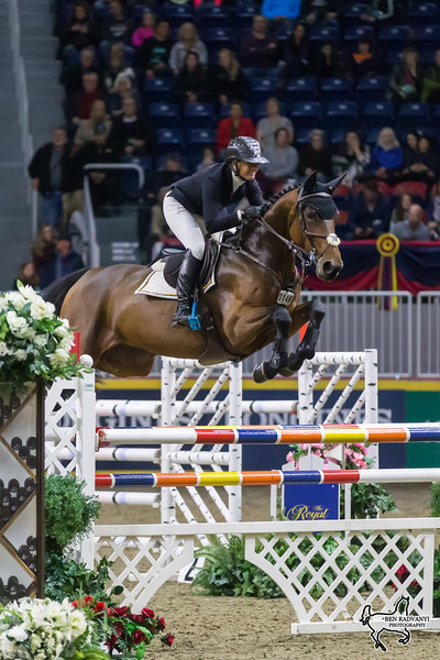 Canada's own Erynn Ballard of Tottenham, ON, placed second in the $35,000 International Jumper Power and Speed riding Thalys Z on Tuesday, November 7, at the CSI4*-W Royal Horse Show in Toronto, ON. Photo by Ben Radvanyi Photography (CNW Group/Royal Agricultural Winter Fair)