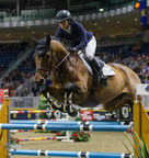 Two-time Olympic team gold medalist Beezie Madden of the United States finished third in the $35,000 International Jumper Power and Speed riding Coach on Tuesday, November 7, at the CSI4*-W Royal Horse Show in Toronto, ON. Photo by Ben Radvanyi Photography (CNW Group/Royal Agricultural Winter Fair)