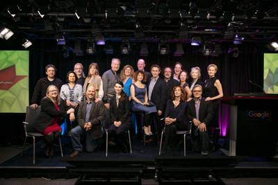 Quelques-uns des talents et des créateurs qui ont contribué à de titres sur Encore+ (Groupe CNW/FONDS DES MEDIAS DU CANADA)