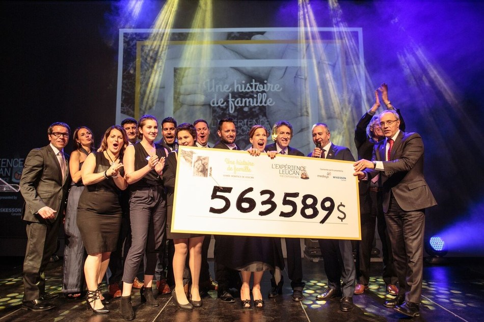 The record amount of $563,589 was raised to support cancer-stricken children and their families. (CNW Group/Leucan)