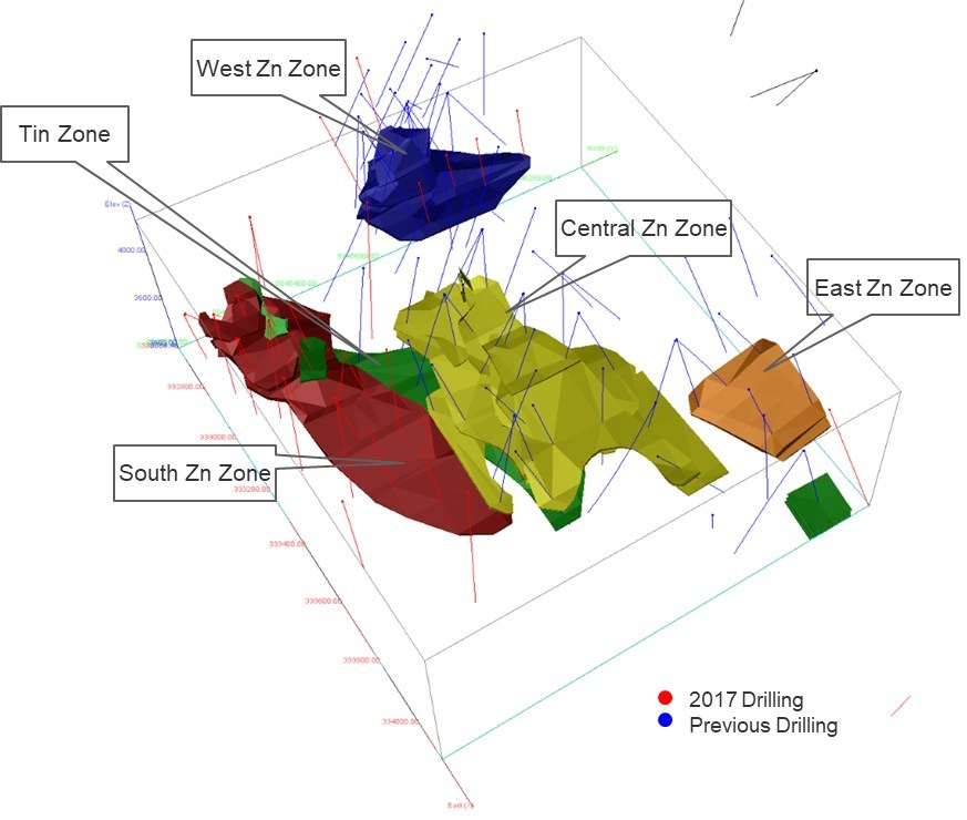 Tinka more than doubles inferred mineral resources at ayawilca figure 1 3d model of resource wireframes at ayawilca cnw grouptinka resources publicscrutiny Image collections