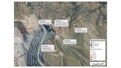 Figure 5 – Plan View of Golden Point Extensional Drilling (CNW Group/OceanaGold Corporation)