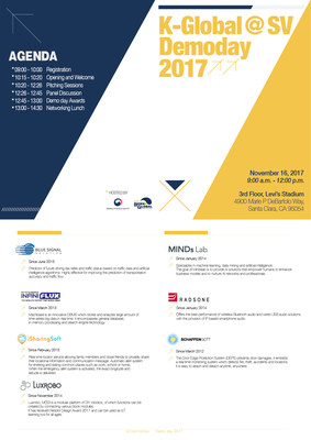 "Innovative 7 Korean startups pitch at ""K-Global @ Silicon Valley 2017: K-Pitch"""