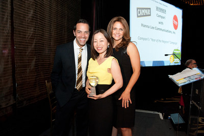 Phil Lipof (NBC Boston), Hanna Lee, Michelle Charlesworth (ABC New York) at PRSA's Big Apple Awards
