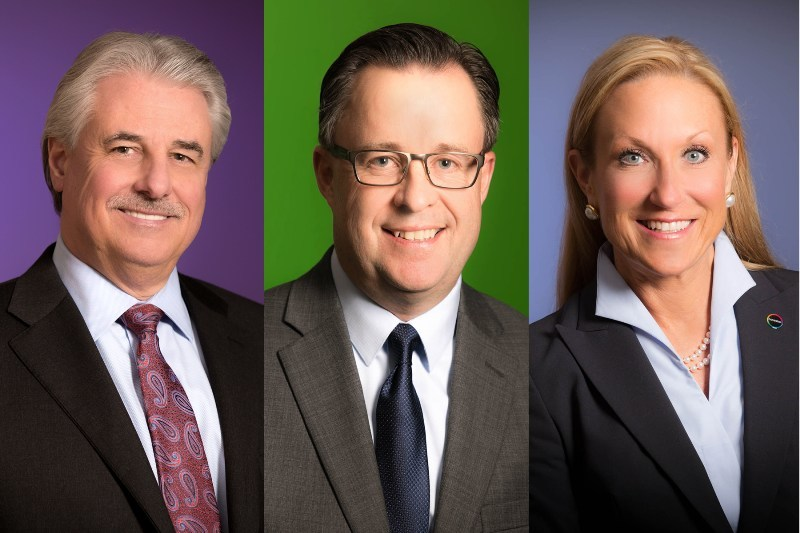 Pictured above (l. to r.): Jerry MacCleary, named chief executive officer of Covestro LLC; Dr. Erik Haakan Jonsson, successor to MacCleary as president and managing director of Covestro LLC; and Christine Bryant, successor to MacCleary as head of the Polyurethanes business unit in North America.