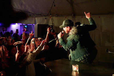 Grammy-nominated, multiplatinum-selling artist Gavin DeGraw performs at the Project: Aloft Star Final in New York City. DeGraw mentored the two finalists in the competition, with indie-folk-rock duo The Bergamot being crowned the winner at the end of the night