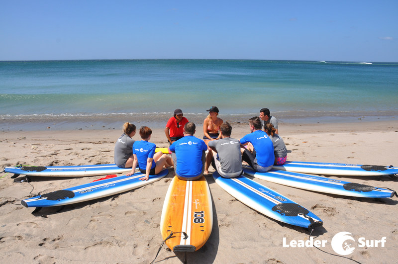 LeaderSurf participants learning to study the ever evolving landscape of the ocean, much like a business leader must study the competitive landscape before making business decisions.
