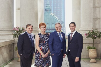 From left: Andrew Molson, Chairman; Valérie Beauregard, Executive Vice-President; Jean-Pierre Vasseur, President and CEO; Royal Poulin, Executive Vice-President and CFO (CNW Group/NATIONAL Public Relations)