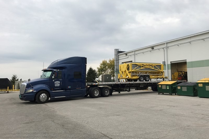 The Sun Commander generator, featuring polyurethane composites from Covestro LLC, on its way to Puerto Rico to assist with rebuilding efforts following Hurricane Maria.