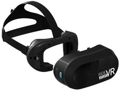 RideVR all-in-one headset, built and optimized for theme parks by Sensics and VR Coaster.