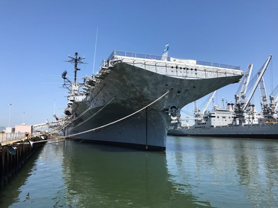 AkzoNobel, a paints, coatings and chemicals company, has donated more than 1,600 gallons of military-grade International® Marine Coatings to repaint the entire 873-foot U.S.S. Hornet Sea, Air & Space Museum to make the ship look as good as it did when it was commissioned in 1943.