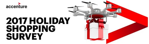 The survey found that Canadians are continuing to leverage technology to solve for a more convenient holiday shopping experience. (CNW Group/Accenture)