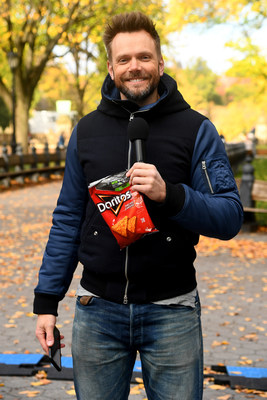 Joel McHale hosts first Drop Zone event in New York City.
