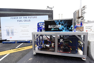 A fuel cell provided some of the power requirements for Royal Caribbean's Sea Beyond event at Duggal Greenhouse at the Brooklyn Navy Yard on Wednesday Nov. 8, 2017,  in Brooklyn, New York. (Photo by Diane Bondareff/ Invision for Royal Caribbean Cruises Ltd./AP Images)