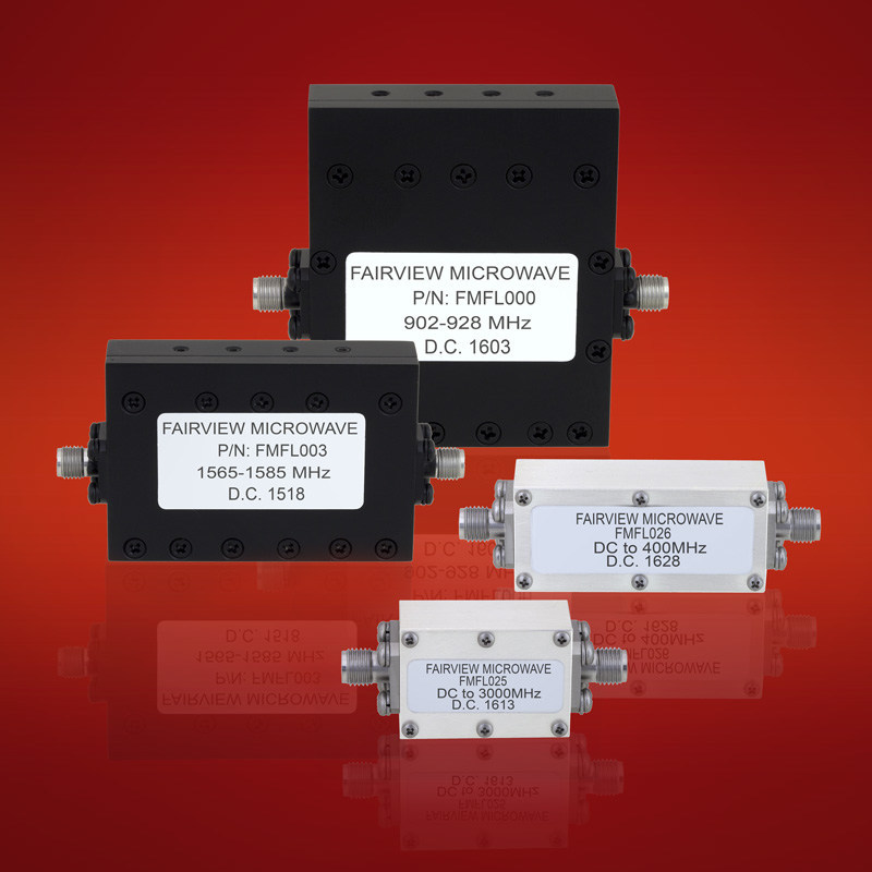Fairview Microwave Low Pass and Bandpass SMA Coaxial Filters