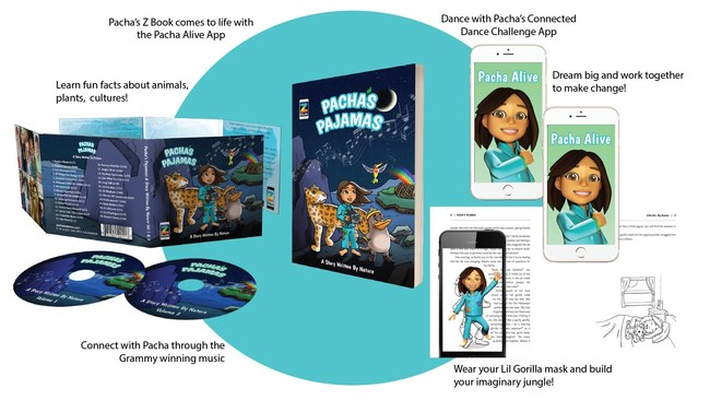 Pacha's Pajama's Children's ZBook featuring Augmented Reality