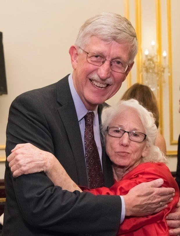 Francis S. Collins, Director of the NIH, with Nancy Wexler at the HDF Scientific Symposium. (Photo by: Anthony Collins Photography)