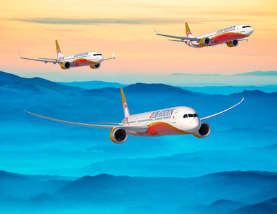 Boeing [NYSE:BA] and CDB Aviation today finalized an order for 42 737 MAX 8s, 10 737 MAX 10s and eight 787-9 Dreamliners. The order puts the 737 MAX program over 4,000 orders total. (Boeing illustration)