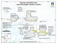 Eleonore Gold Mine Area, James Bay Region, Quebec, Canada (CNW Group/Azimut Exploration Inc.)
