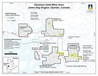Eleonore Gold Mine Area, James Bay Region, Quebec, Canada (Groupe CNW/Exploration Azimut inc.)