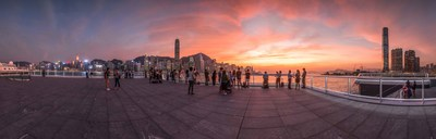 """Ocean Terminal Deck"" has become the best venue to enjoy Hong Kong's sunset view."
