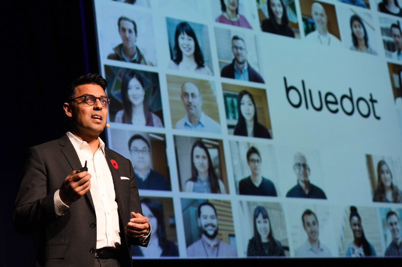 BlueDot Founder and CEO, Kamran Khan, MD, MPH, discusses the future of health innovation at the 2017 RBC Innovators' Ball, which brought together Canadian visionaries to celebrate science and curiosity in support of the Ontario Science Centre and its vital community access programs. (CNW Group/Ontario Science Centre)