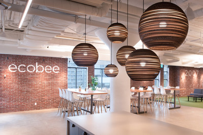 ecobee's 37,000 square foot space, located at Queens Quay, fosters creativity and innovation to develop game-changing technology that allows customers to focus on the people and moments that matter. (CNW Group/ecobee Inc.)