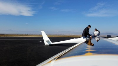 Bye Aerospace StratoAirNet with integrated wings populated with SolAero Solar Cells