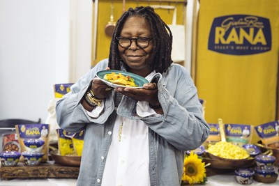 "Whoopi Goldberg with Giovanni Rana at GBK's ""Thank You Lounge"" backstage at NYCWFF."