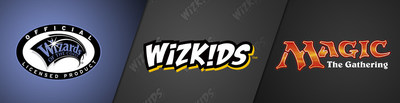 Wizards of the Coast, WizKids, and Magic: The Gathering logos