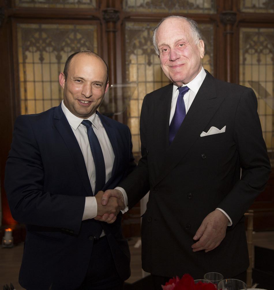 Ronald S. Lauder and Minister Naftali Bennett (CREDIT PHOTOGRAPHER: Noa Grayevsky)