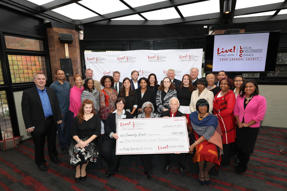 The $19.6 million in local impact and community grants mark the largest amount ever awarded by the LDC since Live! Casino opened in June 2012, and brings the total funds in support of Anne Arundel County organizations to more than $100 million.