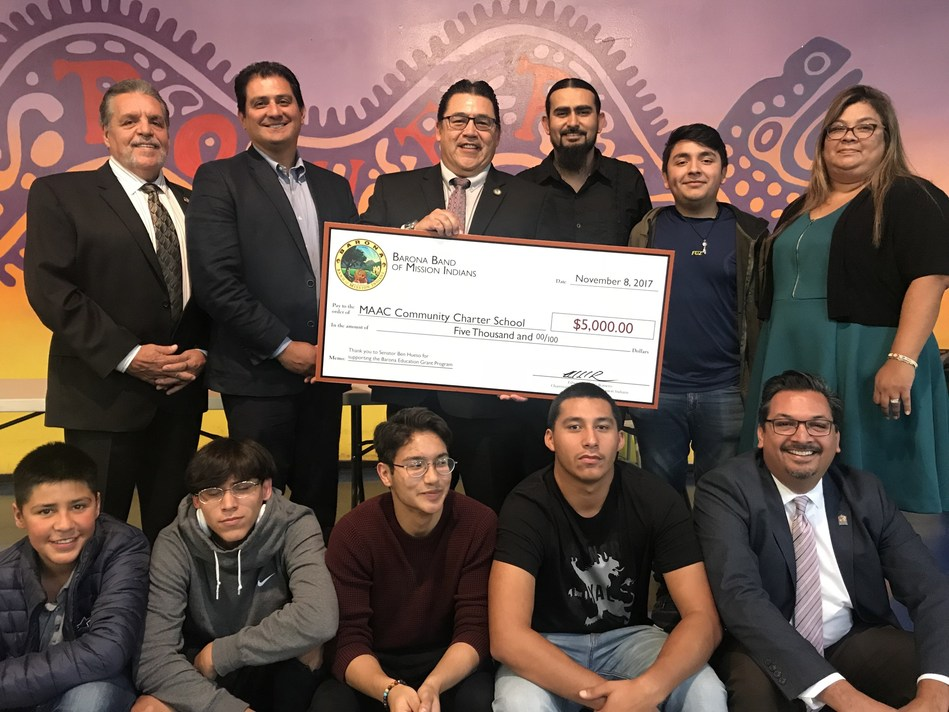 Barona Band Of Mission Indians Awards MAAC Community Charter School A $5,000 Grant To Upgrade Science Resources