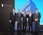 Pictured from left to right --  Vancouver Mayor Gregor Robertson, Graham Coleman (Iredale Architecture), lead architect Harry Gugger (Switzerland), Franz Gehriger (SwissReal Investments), and Christoph Schumacher (Credit Suisse Head of Global Real Estate) (CNW Group/Credit Suisse Real Estate Asset Management)
