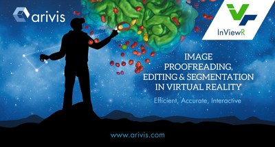 The latest version of arivis InViewR provides efficient, accurate, and interactive proof reading, editing, and segmentation of real 3D images in Virtual Reality (VR).  Image sources include light microscopes (confocal, lightsheet, multi-photon), electron microscopes, 3D X-ray's,  Computed Tomography Images (CT), and Magnetic Resonance Images (MRI) acquired for applications spanning life-science research, materials analysis, and medical imaging.