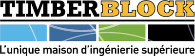 Logo : Timber Block : L'unique maison d'ingénierie supérieure (Groupe CNW/Timber Block (Thermo Structure Inc.))